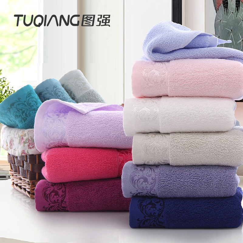 Wholesale Tuqiang 100% cotton luxury euro style top grade solid color satin face towel