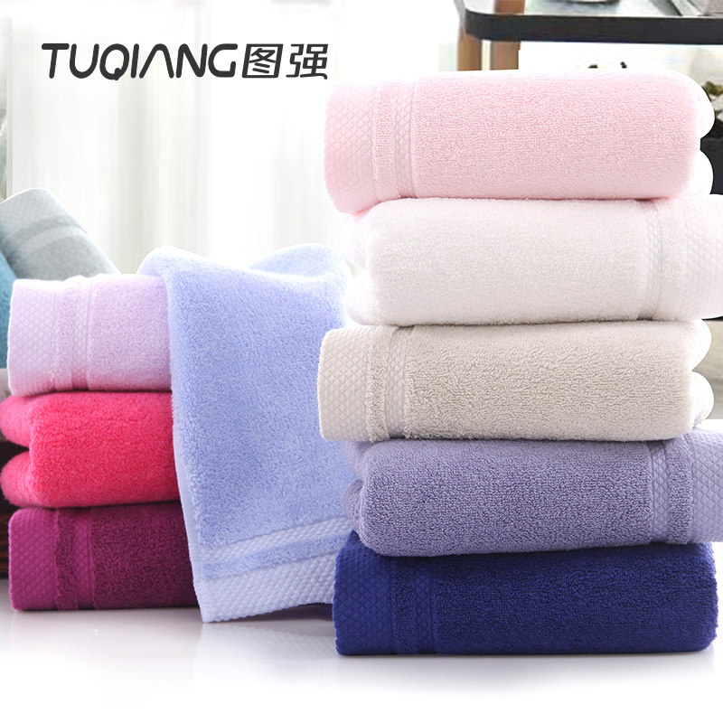 China supplier top quality 100% long staple cotton satin face towel